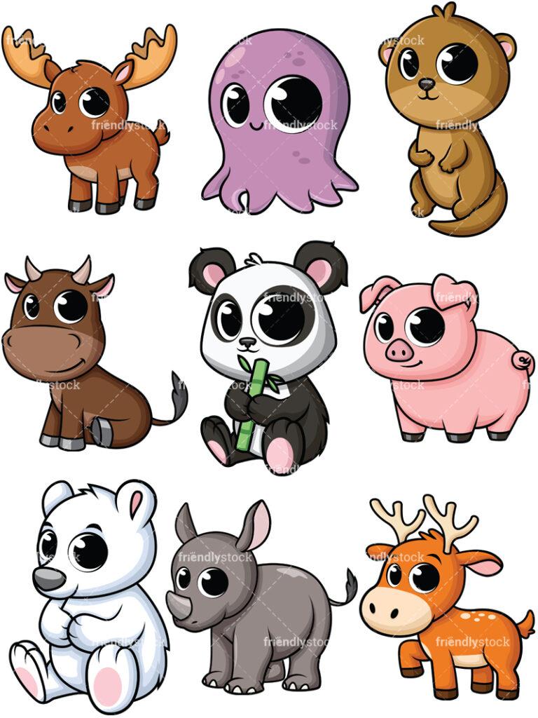 Cartoon Animal Clipart.
