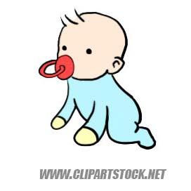 Cartoon of baby clip art..