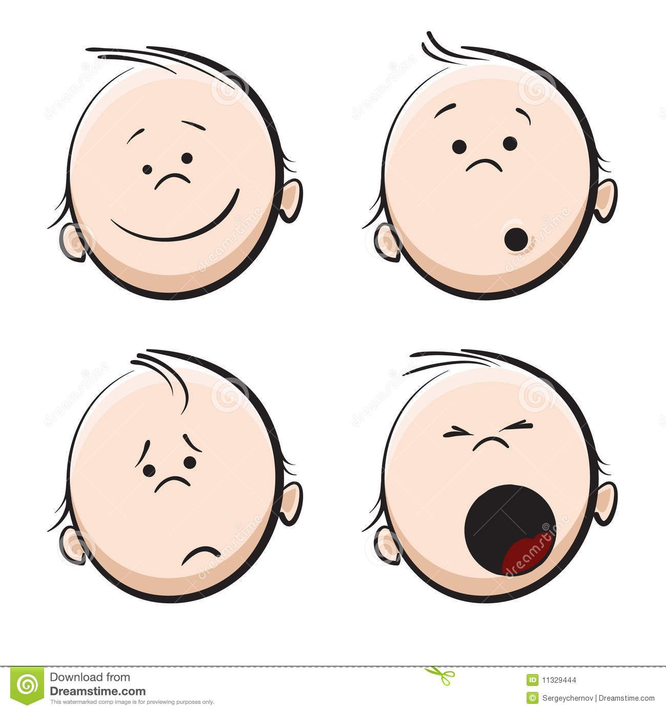 cute baby faces clipart.