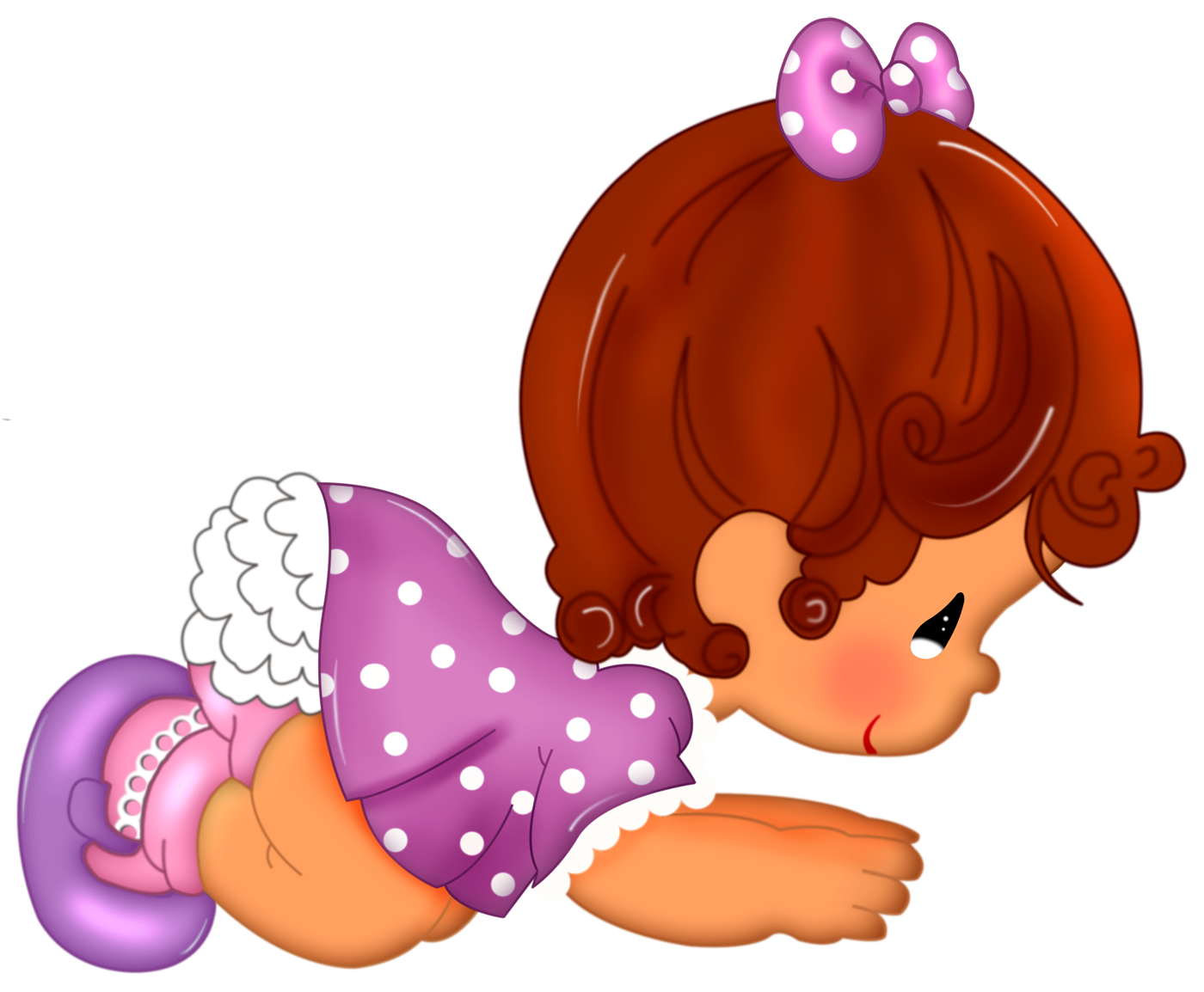 Baby Girl Cartoon Free Clipart.