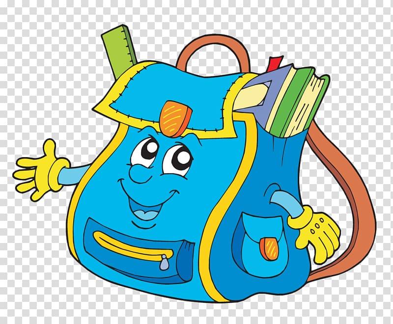 Bag School Backpack , Cartoon bag transparent background PNG clipart.