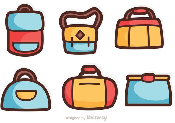 Cartoon Bag Vectors.