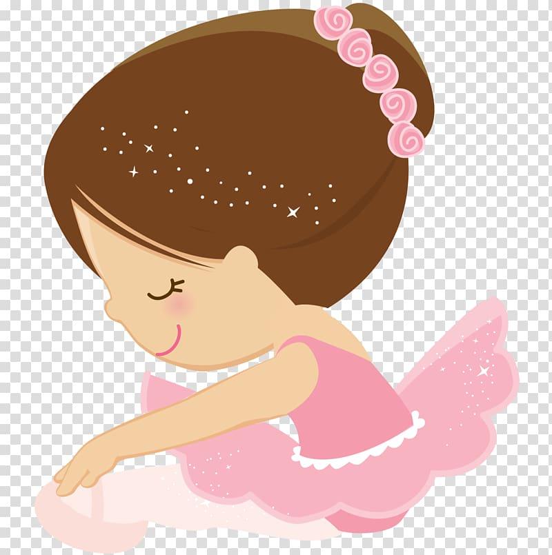 Ballet Dancer Cartoon, ballerina transparent background PNG clipart.