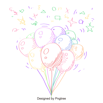 Cartoon Balloons PNG Images.