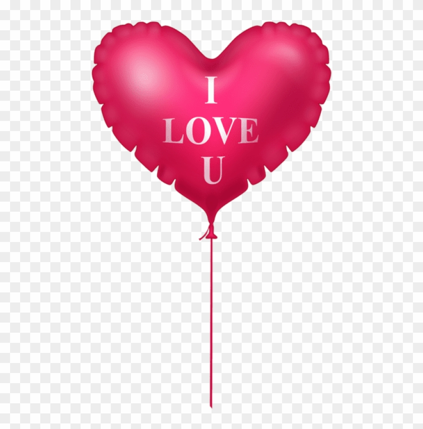 Free Png Download I Love You Pink Heart Balloon Png.