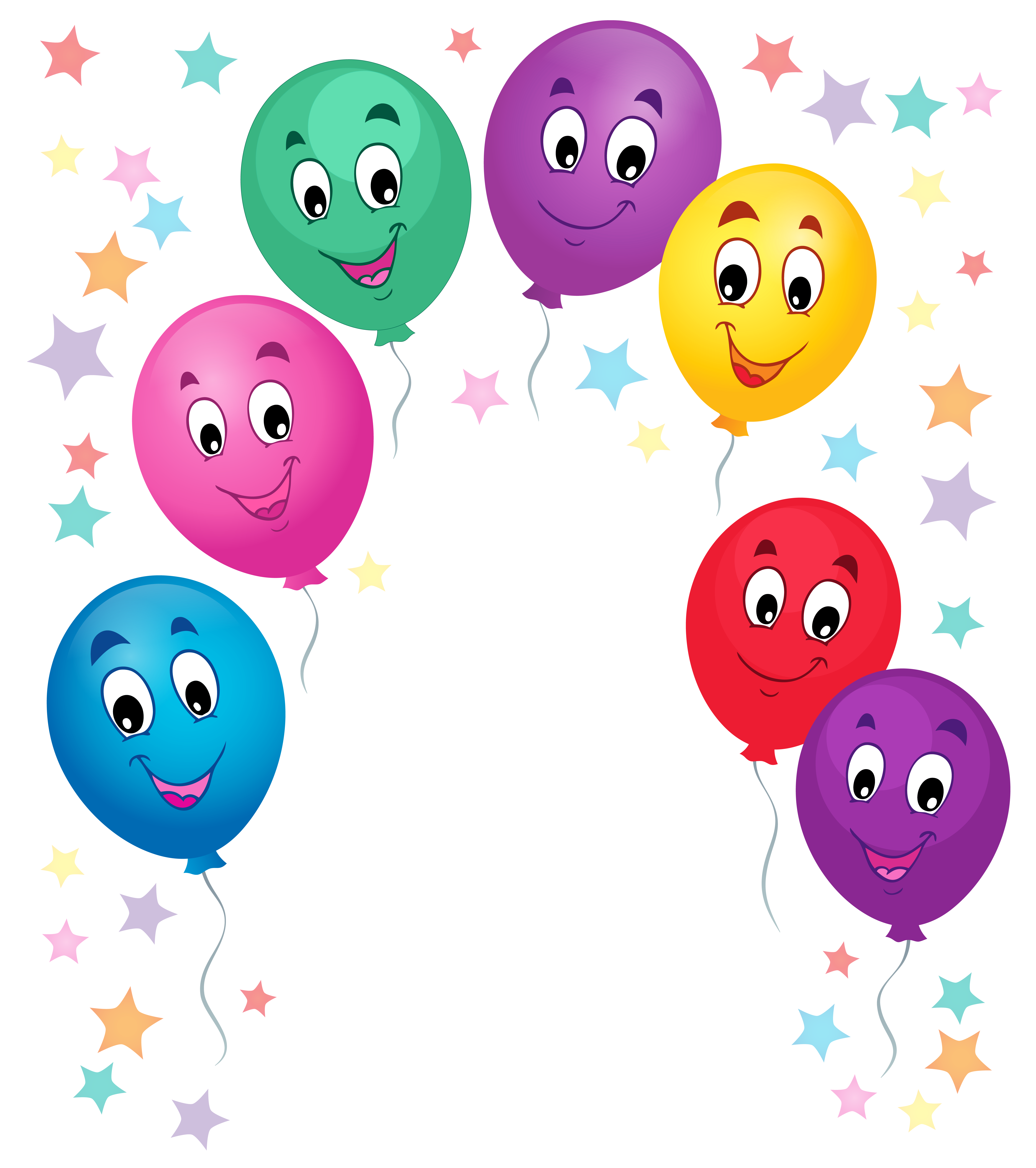Balloons Cartoon Decoration PNG Clipart Picture.