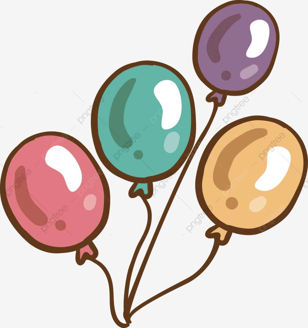 Colorful Balloons Cartoon Balloon Cute Balloon Yellow Balloon, Blue.