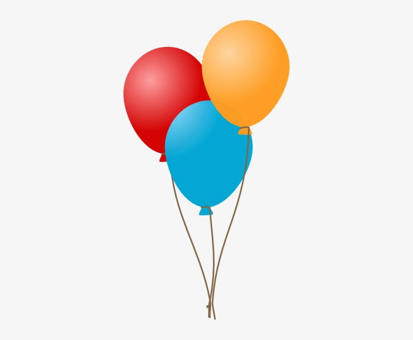 Clip Transparent Stock 3 Balloons Clipart.