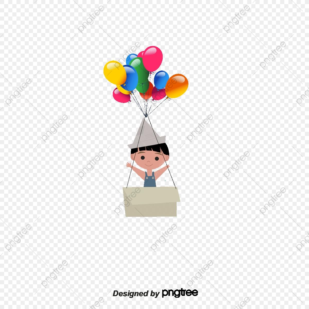 Cartoon Balloons, Balloon, Flowers, Cartoon Elements PNG Transparent.