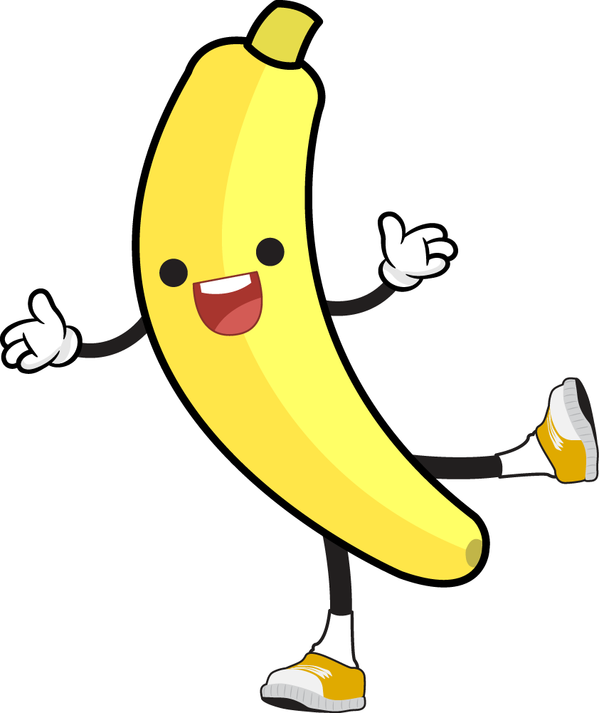 Banana Cartoon Clipart Free.