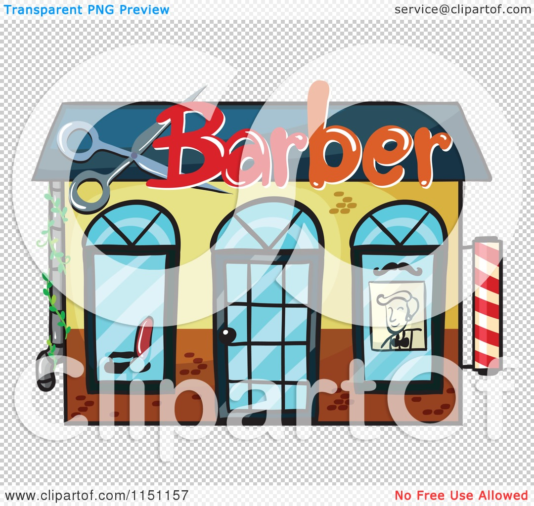 Clipart of a Barber Shop.