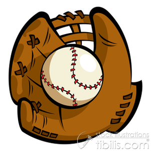 Cartoon Baseball Glove Clipart.
