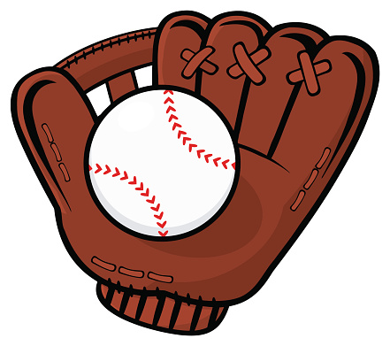 Cartoon Baseball Glove.