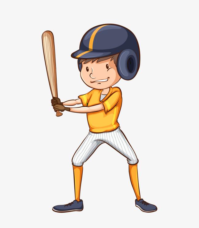 Cartoon Baseball Player, Baseball Clipar #42318.
