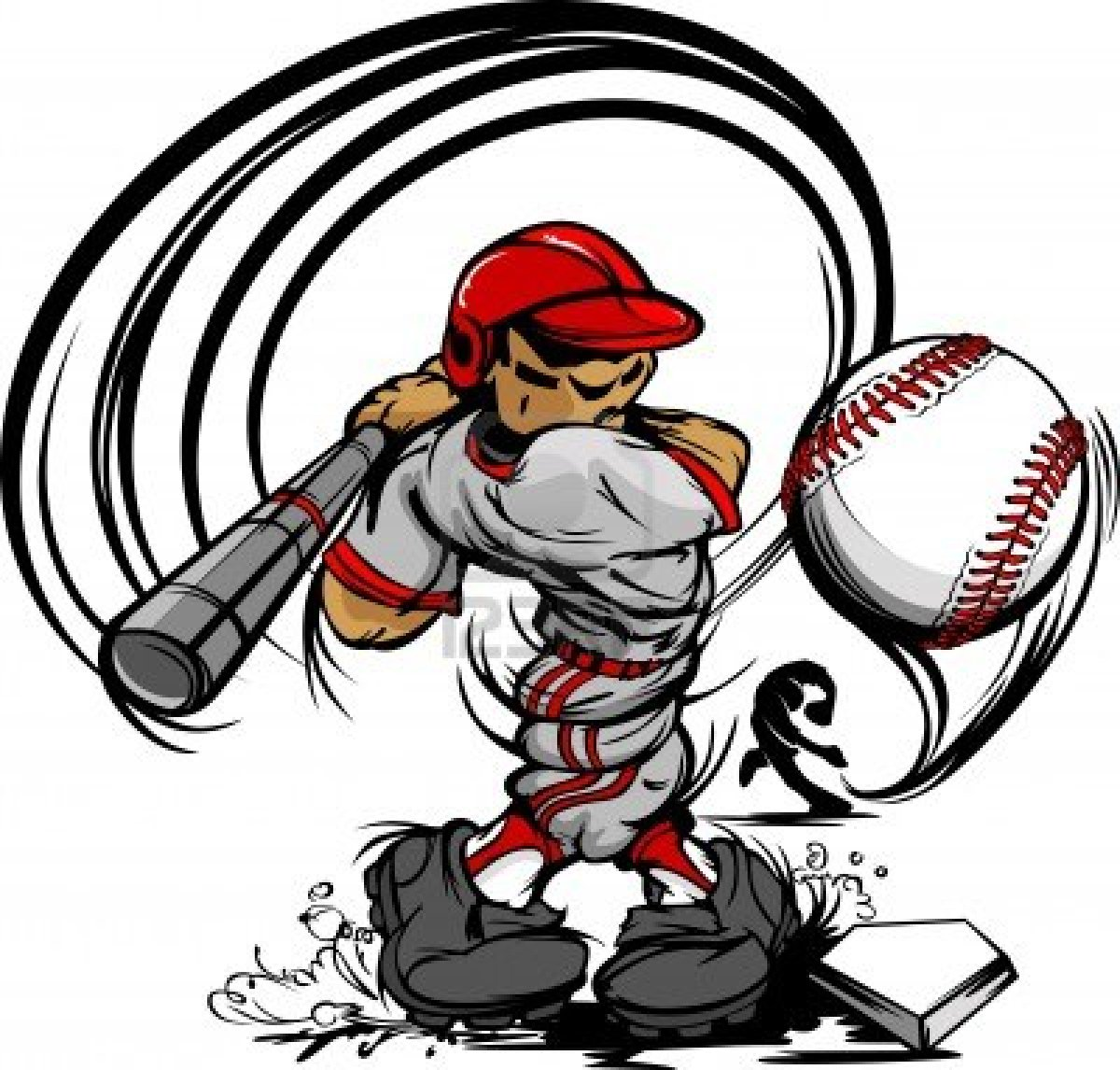 Baseball Cartoon Player.