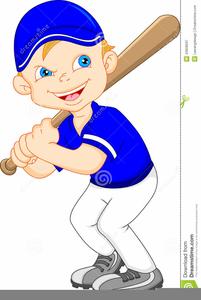 Cartoon Baseball Player Clipart.