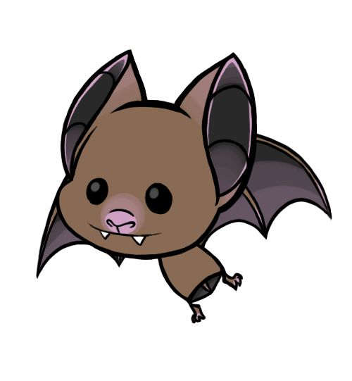 Cute little cartoon bat.