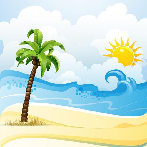 Cartoon Beach Clipart.