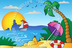 Cartoon beach scene clipart 2 » Clipart Portal.