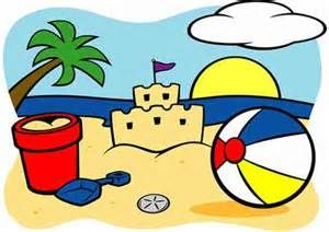 cartoon beach scene for kids.