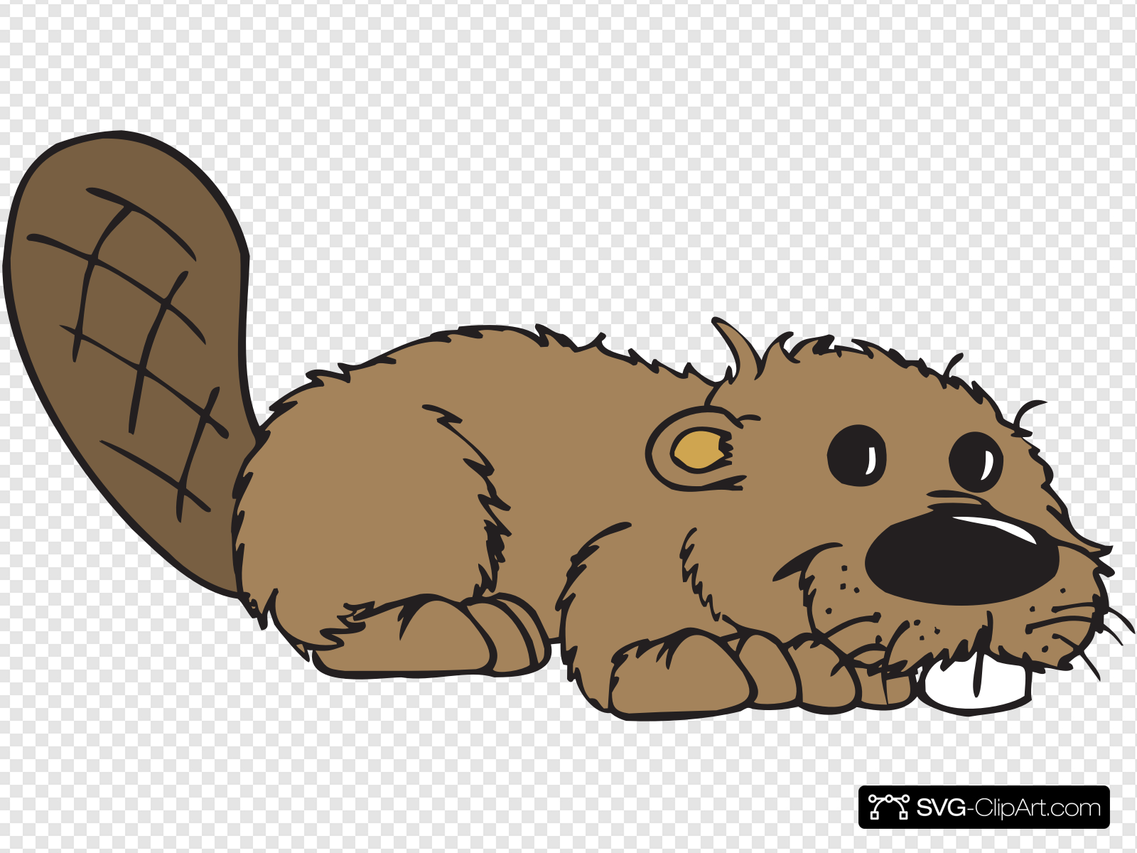 Cartoon Beaver Clip art, Icon and SVG.