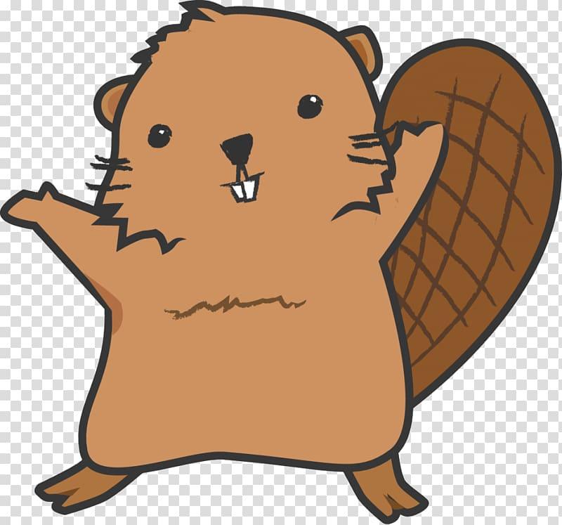North American beaver Cartoon , Beaver standing up.