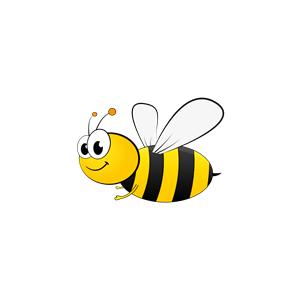 Cartoon Bee clipart, cliparts of Cartoon Bee free download (wmf, eps.