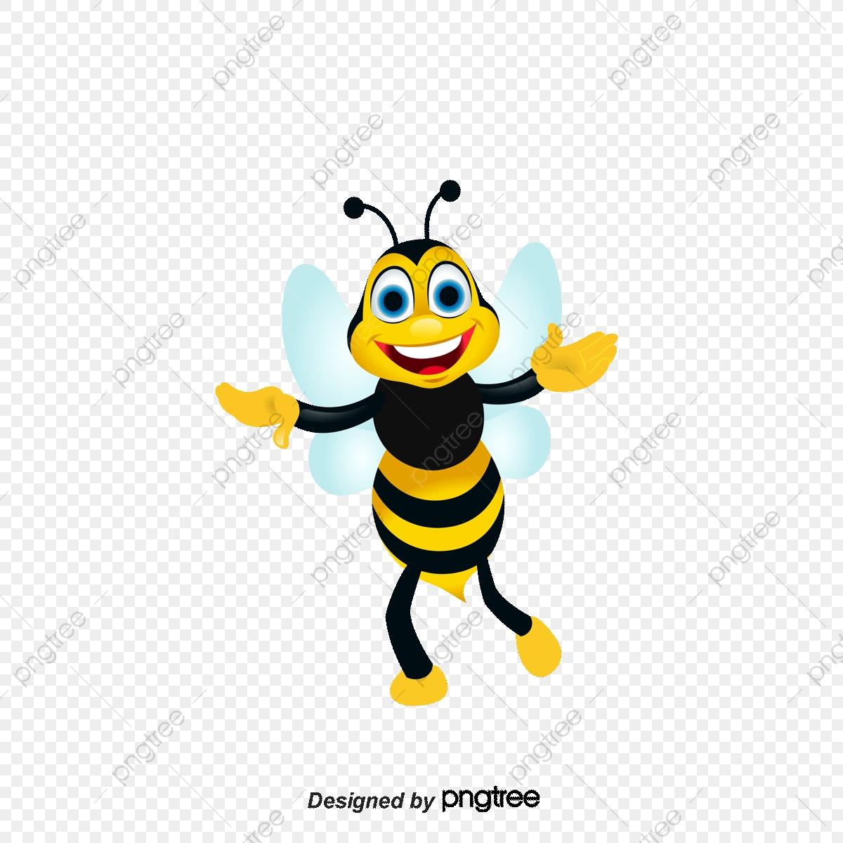 Cute Cartoon Bee, Cartoon Clipart, Bee Clipart, Cartoon PNG and.