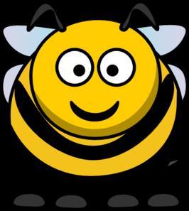 Round Cartoon Bee Clip Art at Clker.com.