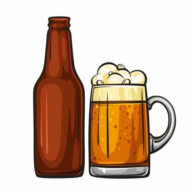 Best Cartoon Beer Bottle Illustrations, Royalty.