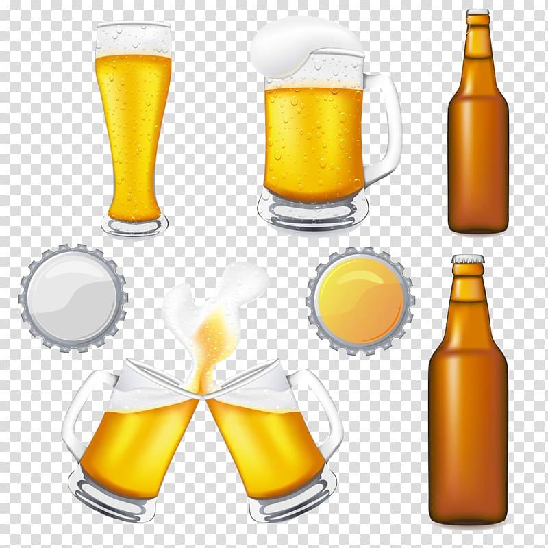 Beer glassware Oktoberfest , Cartoon beer mug bottle transparent.