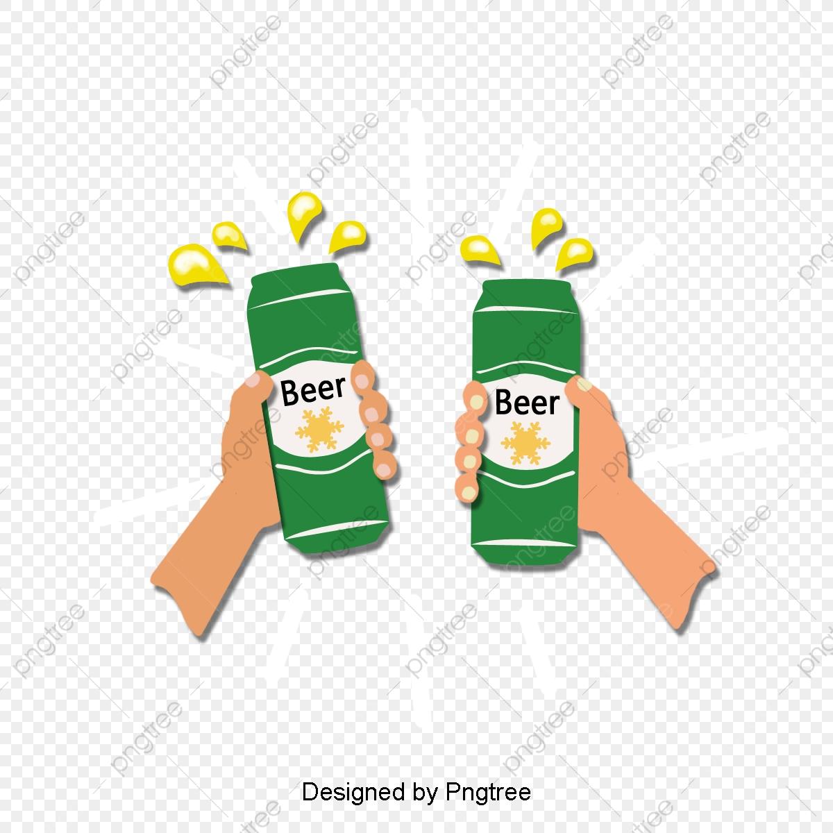 Summer Cool Drink Beer, Beer, Drinks, Cartoons PNG Transparent.