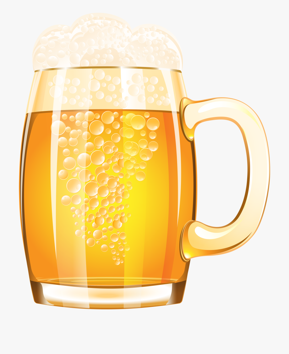 Mug Of Beer Png Vector Clipart Image.