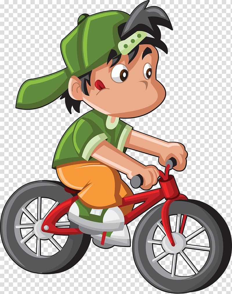 Bicycle Cycling Cartoon , cycling transparent background PNG.