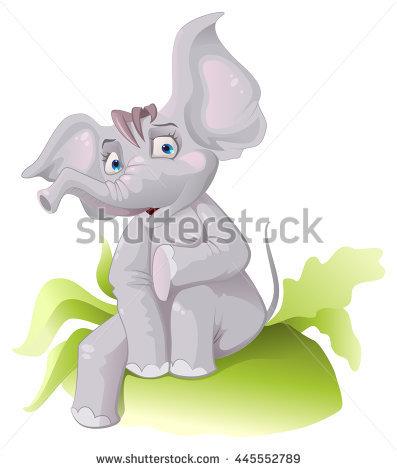 Funny African Elephant Big Ears Vector Stock Vector 436422955.