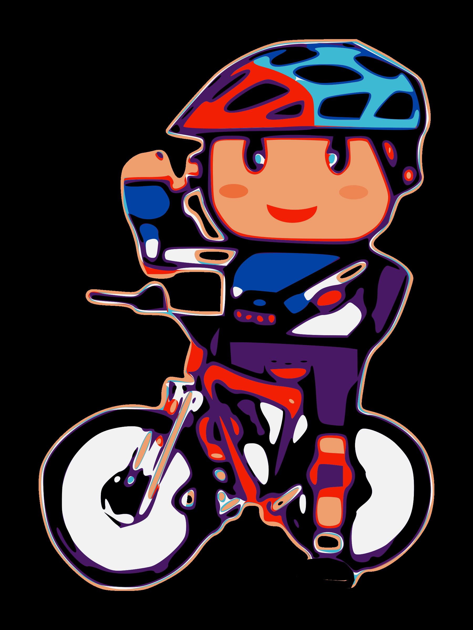 Cartoon Biker Free Clipart image.