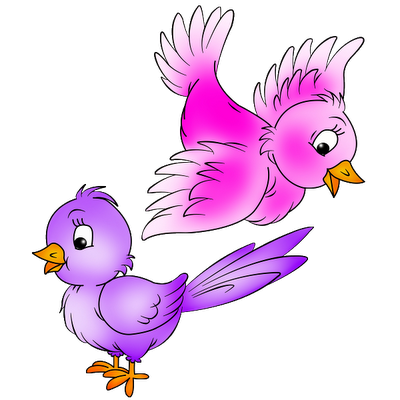 Love Birds Clip Art.