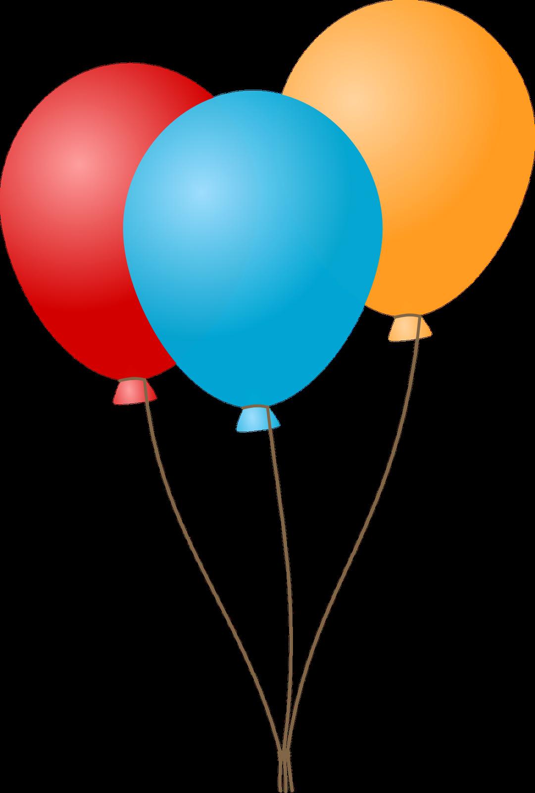 Cartoon Birthday Balloons Clip Art N5 free image.