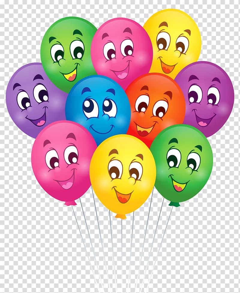 Birthday Wish Greeting card , Balloons with Faces Cartoon , balloon.