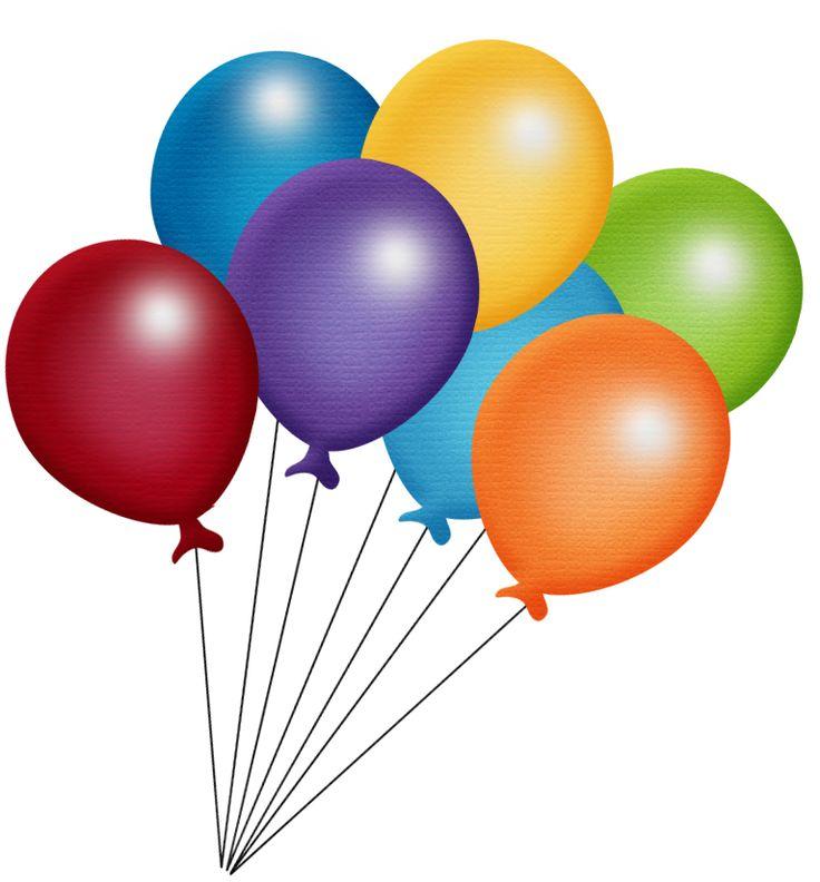 Cartoon Birthday Balloons Clipart.