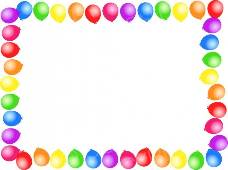 Birthday Balloon Page Border Prawny Clipart Cartoons.