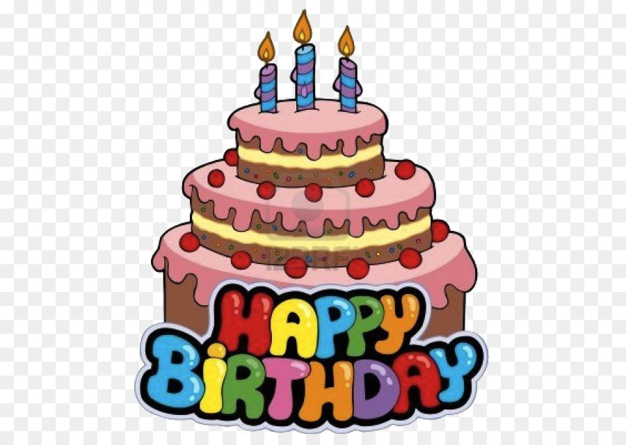 Cartoon Birthday Cake clipart.