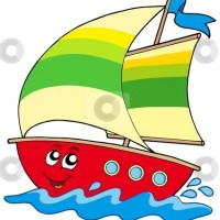 cartoon boats clipart.