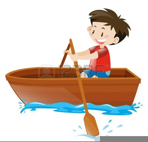 Cartoon Row Boat Clipart.