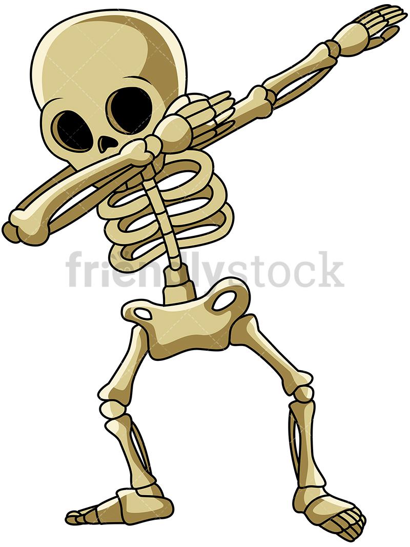 A Dabbing Skeleton.