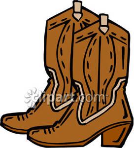 Cartoon Cowboy Boot.