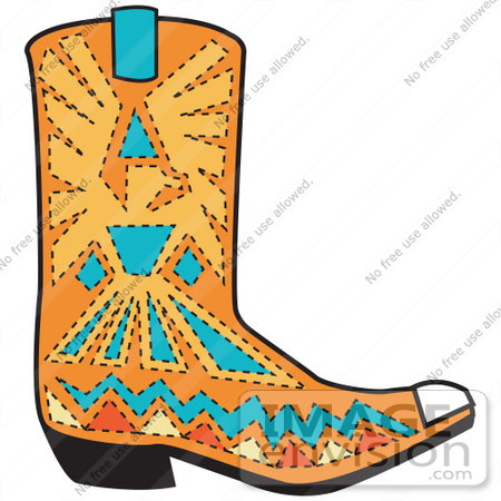 Cowgirl Boots Clipart.