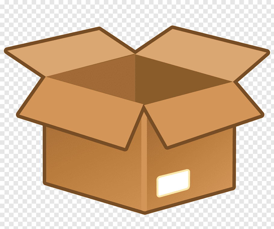 Brown box illustration, Cardboard box Icon, Cardboard box.