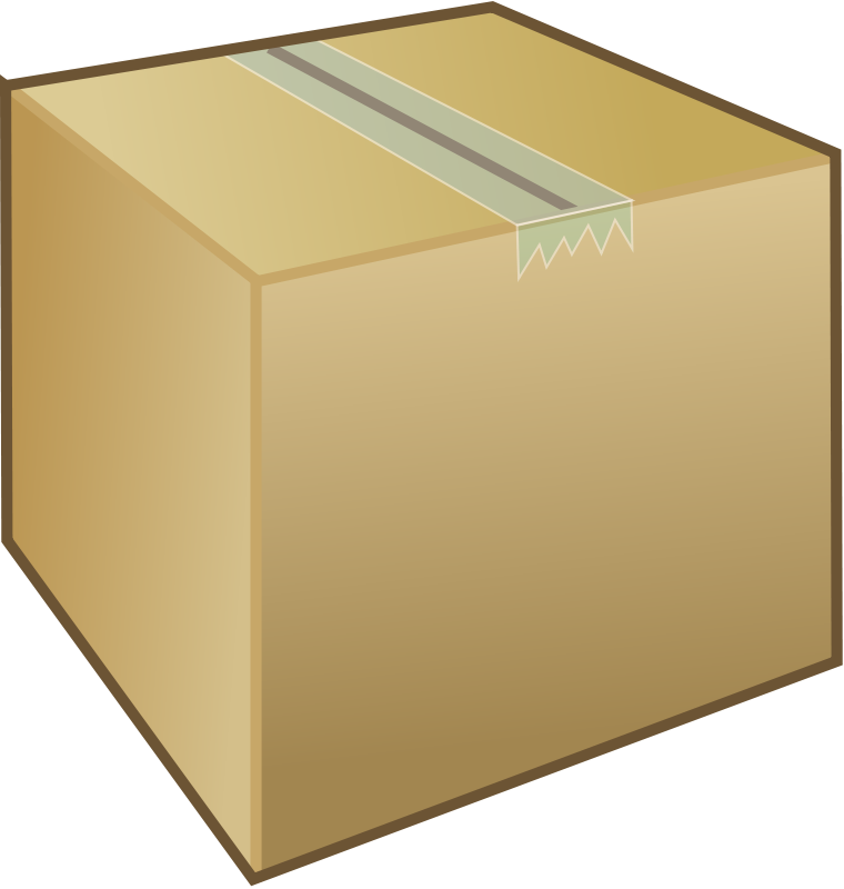 Free Clipart: Cardboard box / package.