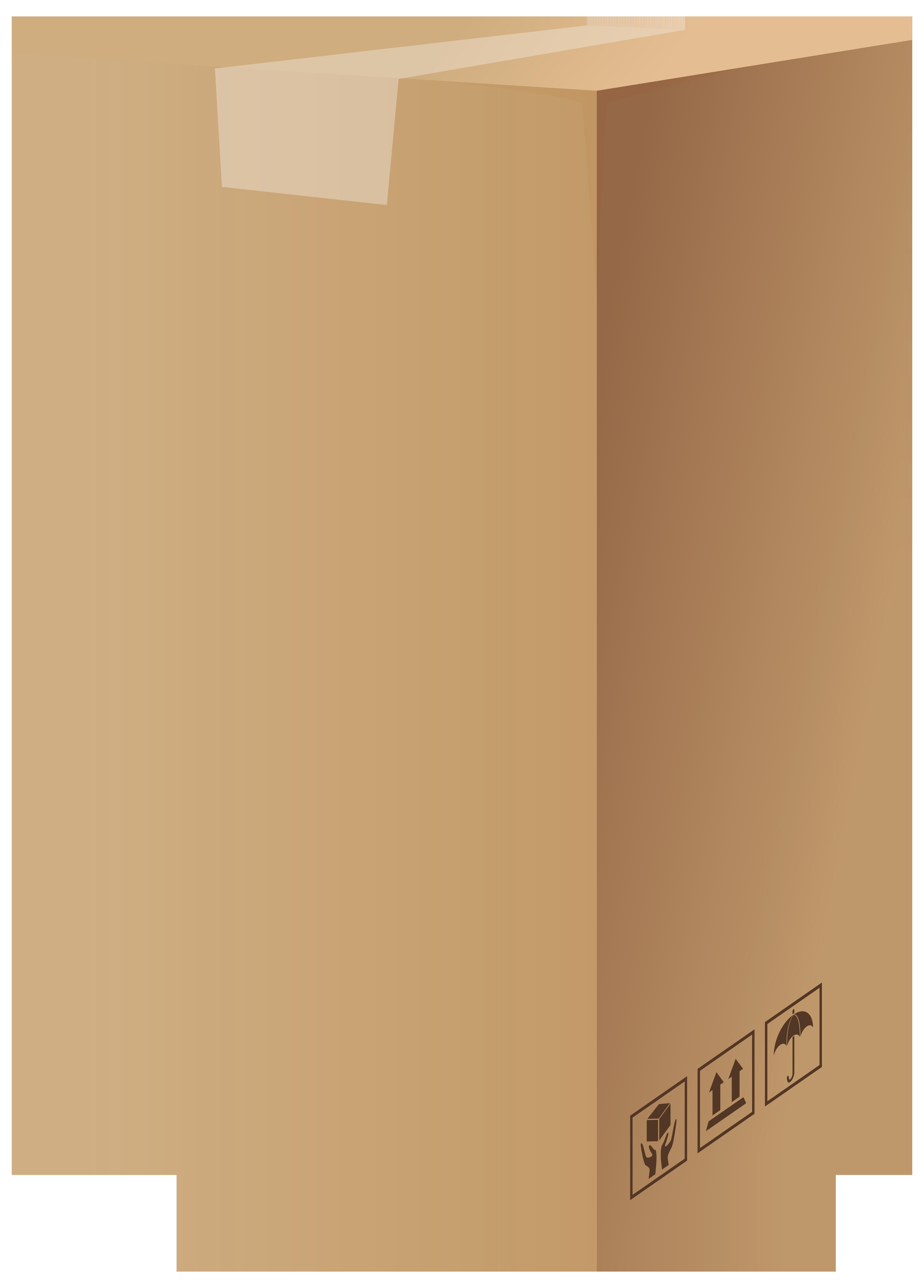 Carton Box PNG Clip Art.